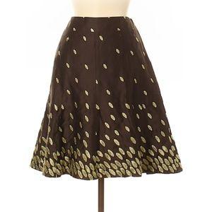 Ann Taylor Metallic Leaf Skirt